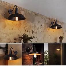 e27 vintage wall sconce metal retro wall light kitchen bar loft garden l 26cm sale banggood com
