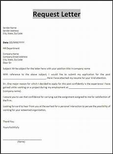 request letter template application letters business letter letter sle