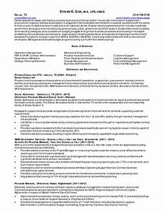 resume operations manager supply chain mgmt procurement contractin