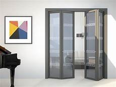 glas falttür innen wing centre split folding door flat f1 by foa