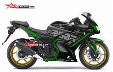 250 Karbu Modif by Modifikasi Striping Kawasaki 250r Karbu Black Green