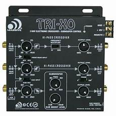 massive audio tri xo 3 way active electronic crossover w subwoofer control 623169650130 ebay