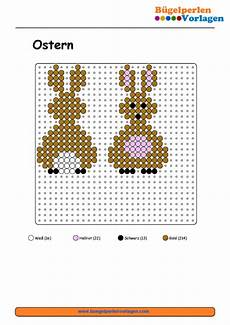 Ostern Vorlagen Sticken Kostenlos Osterhase B 252 Gelperlen Vorlage Easter Bunny Perler Bead