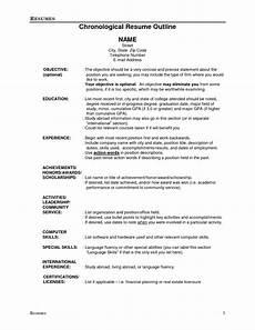 resume outline resume cv