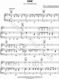 quot one quot from a chorus line sheet music in eb major transposable download print sku