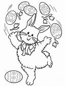 Easter Bunny Coloring Pages  Page Book