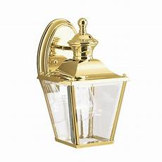 solid brass outside wall lantern in classic carriage l