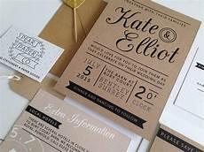 kraft st wedding invitation by pear paper co notonthehighstreet com