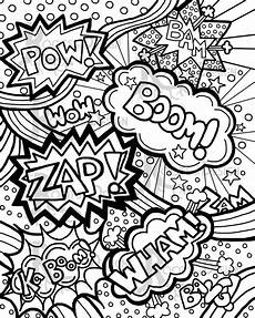 Comic Malvorlagen Novel Instant Coloring Page Comic Book Words Pop