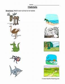 plants habitat worksheets 13564 matching animal habitats worksheet teaching