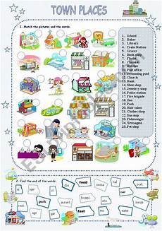 places around town worksheets 16029 town places esl worksheet by stefemma