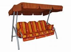 Deluxe Hollywoodschaukel 3 Sitzer Design Granada