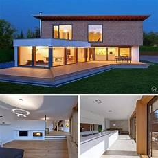 garage innen mit holz fertighaus modern mit pultdach architektur holz glas