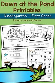 preschool worksheets free 18349 pond worksheets for kindergarten and grade updated for 2016 mamas learning corner