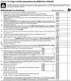 how to calculate determine your estimated taxes form 1040 es
