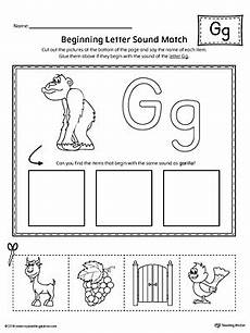 letter g matching worksheets 24631 letter g beginning sound picture match worksheet myteachingstation