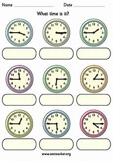 telling time worksheets o clock 3130 worksheet containing 9 analogue clocks showing quarter to and quarter past times with space to
