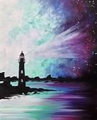 Paint Nite Galaxy Lighthouse III