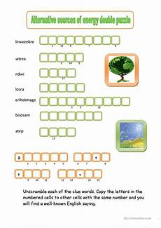 alternative sources of energy double puzzle worksheet free esl printable worksheets made by