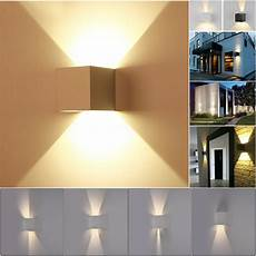 new 7w modern led wall light up down cube indoor outdoor sconce lighting l ebay