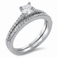 silver wedding ring set sterling silver 925 best price