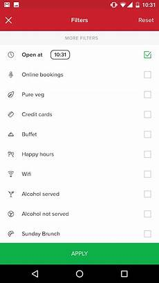 android filters filtering best practice for android actionbar filtration