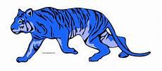Blue Tiger Clipart Gambar Kartun Hewan Harimau