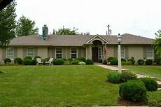 painted brick with brown roof brick ranch houses ranch