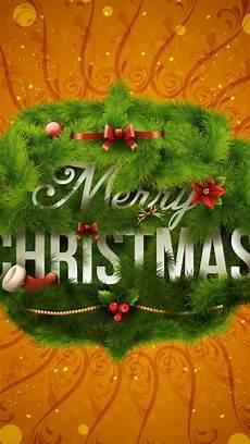 merry christmas wreath iphone 5 5s ipod wallpaper freechristmaswallpapers net