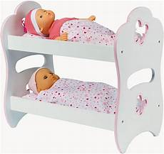 lit superposé pour poupon achat lits superposs pour poupon lit de poupe 2 tages