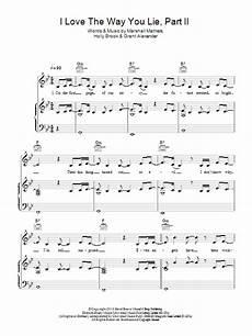 love the way you lie pt 2 sheet music direct