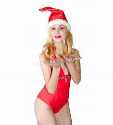 Malvorlagen Weihnachtsmann Jung Die Blondine In Einer Schutzkappe Weihnachtsmann