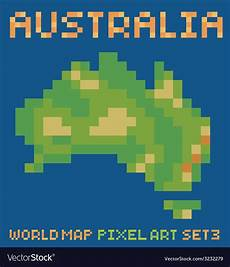 pixel style of continent australia physical vector pixel art style of continent australia physical vector image