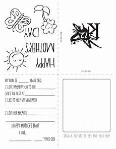 mothers day card printable template 20614 printable s day card learning liftoff