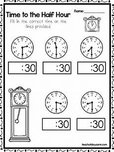 time worksheets level 1 3070 10 time to the half hour worksheets fill in the correct time preschool grade1