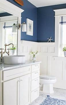 navy blue and white bathroom bathrooms house
