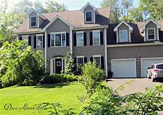 paint colors for house exterior gray brown for main color black shutters white trim only