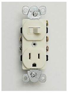 15 single pole almond toggle switch receptacle combo spst outlet with switch ebay