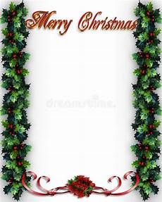 merry christmas holly border stock illustration illustration of dimensional decoration 6135319
