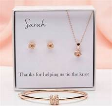 personalize tie the knot wedding bridesmaid teardrop earrings necklace sets jewelry sets of