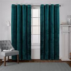 Teal Drapes Curtains by Velvet Teal Heavyweight Grommet Top Window Curtain Eh8195