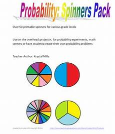 probability worksheets spinners 5883 probability spinners pack by mills teachers pay teachers