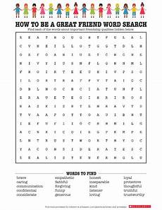 friendship inspired word search worksheets printables scholastic parents