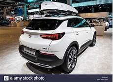 Brussels Jan 18 2019 Opel Grandland X Car Showcased At