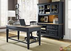 black home office furniture bungalow black executive home office furniture desk set
