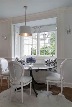 Beadboard Kitchen Banquette by Chic Monochromatic Dining Space With Built In Beadboard
