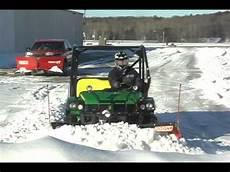 gator and utv plow stacking snow