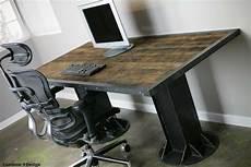 vintage industrial style modern industrial i beam desk vintage modern style mid