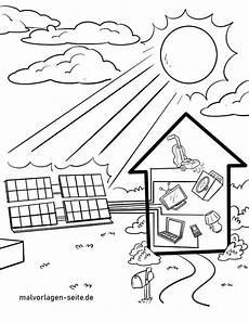 malvorlage solaranlage energie umweltschutz kostenlose
