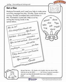 images free stories for 3rd graders get a clue 4th grade language arts worksheets jumpstart